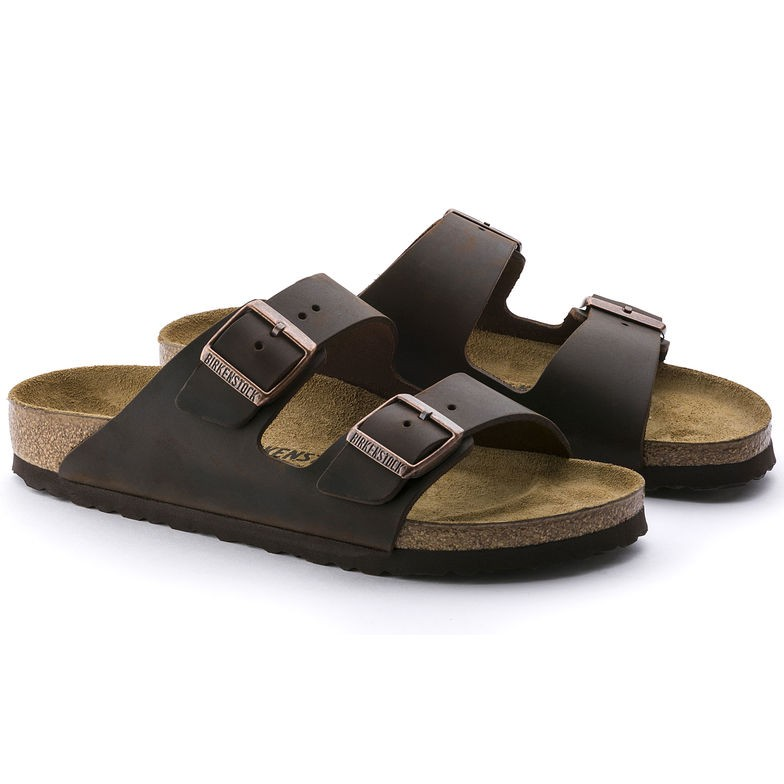 Birkenstock Arizona Habana skinn normal | Birkenstock sandaler