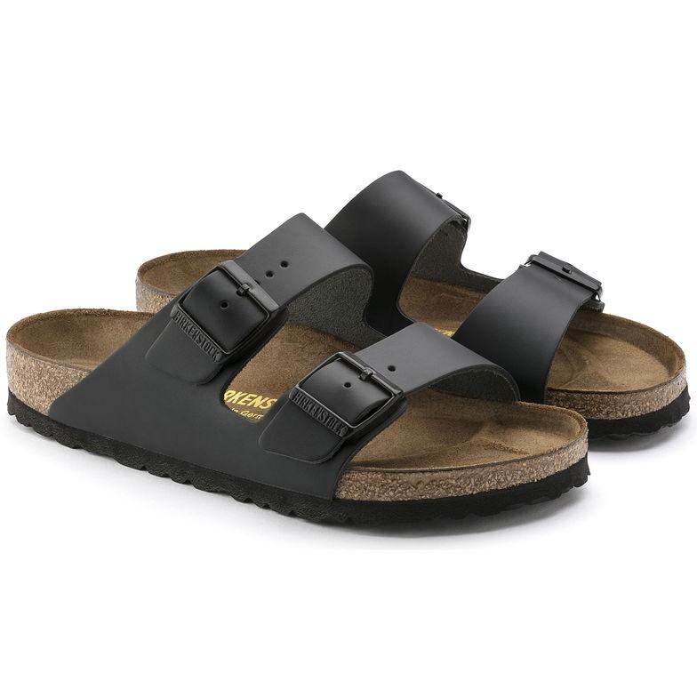 Birkenstock Arizona Svart skinn - normal | Birkenstock sandaler