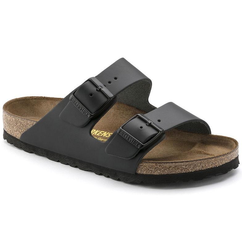helt ny köpa grossistpris Birkenstock Arizona Svart skinn - normal | Birkenstock sandaler