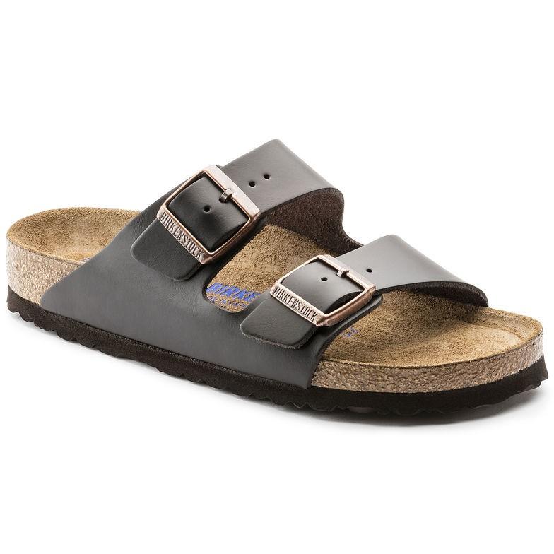 Birkenstock Arizona SFB Brun skinn normal - Myk | Birkenstock sandaler