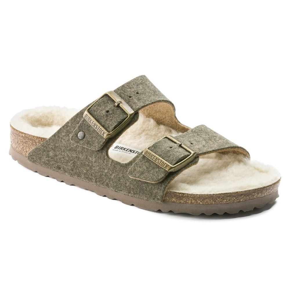 Birkenstock Arizona Doubleface Khaki normal | Birkenstock sandaler