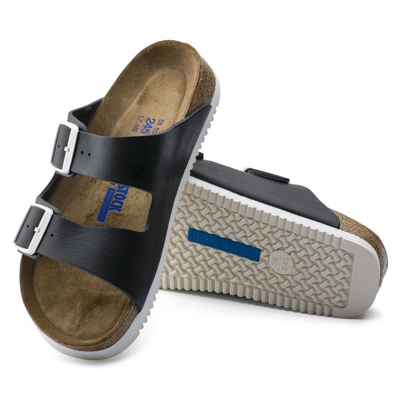 lägsta pris varm försäljning utlopp till salu Birkenstock Arizona SL SFB svart skinn smal Myk | Birkenstock sandaler