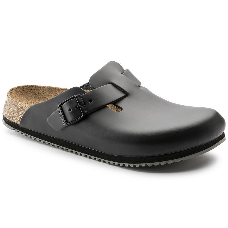 Birkenstock Boston SL svart smal | Birkenstock sandaler