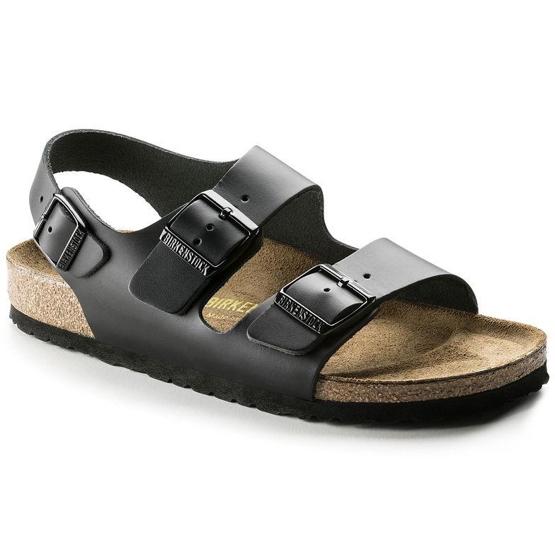 Birkenstock Milano Glatt skinn svart smal | Birkenstock sandaler