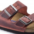 Birkenstock Arizona SFB earth red oljet skinn smal myk thumbnail