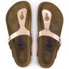 Birkenstock Gizeh SFB skinn, metallic copper, myk normal thumbnail
