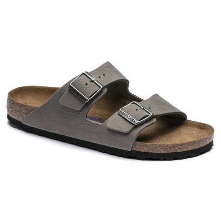 Birkenstock Arizona SFB Soft Whale gray nubuck skinn normal myk
