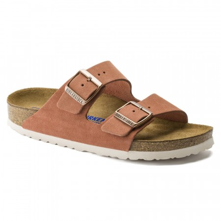 Birkenstock Arizona SFB Earth red semsket skinn smal myk