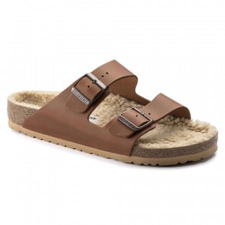 Birkenstock Arizona Antique Pull Cognac skinn normal myk