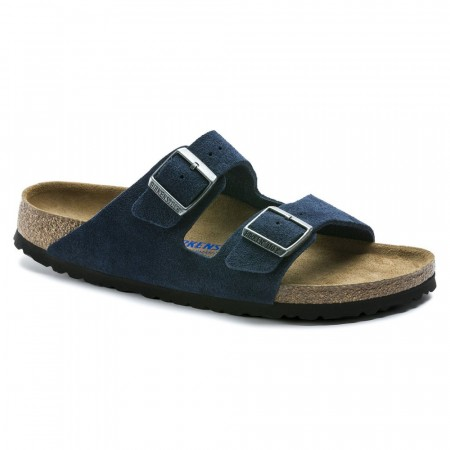 Birkenstock Arizona SFB Night blå semsket skinn normal myk