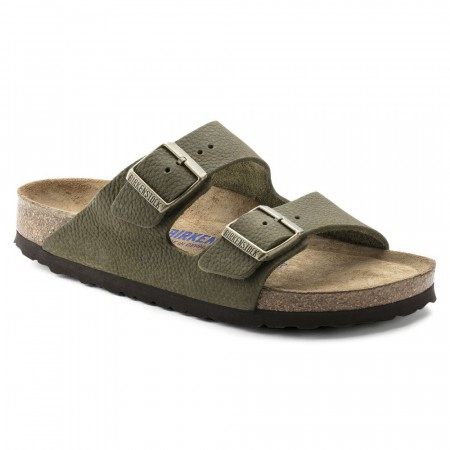 Birkenstock Arizona SFB Steer Khaki nubuck skinn normal myk