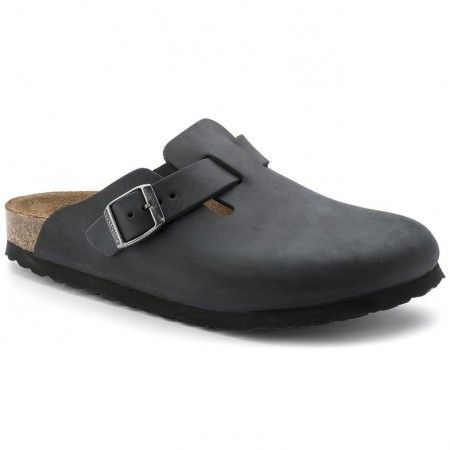 Birkenstock Boston Svart oljet skinn normal