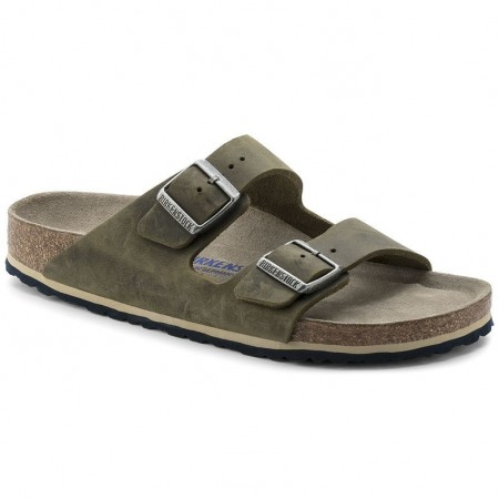 Birkenstock Arizona SFB Arctic Old Jade oljet skinn myk normal