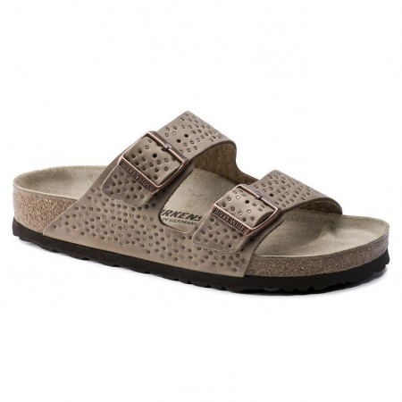 Birkenstock Arizona Crafted Rivets Tabacco skinn smal
