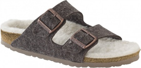 Birkenstock Arizona Cacao Happy Lamb smal