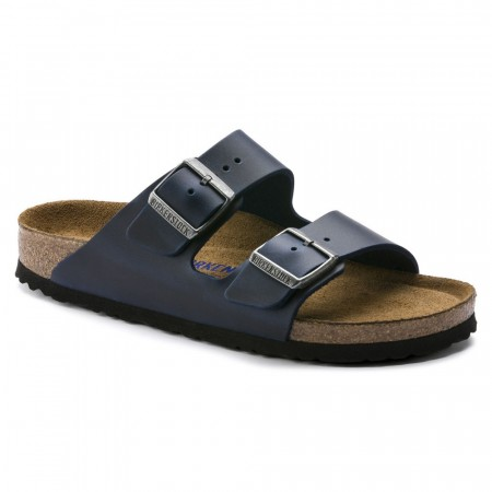 Birkenstock Arizona SFB Blå skinn normal myk