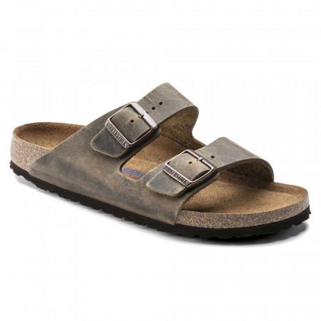 Birkenstock Arizona SFB mud green oljet skinn normal myk