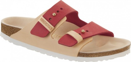 Birkenstock Arizona Urban Tea Rose skinn smal