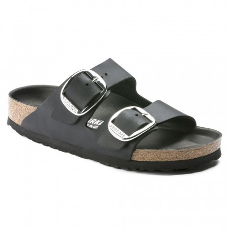 Birkenstock Arizona Big buckle svart skinn smal
