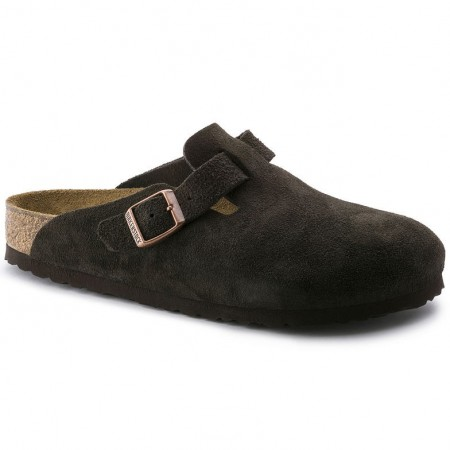 Birkenstock Boston Mocca semsket skinn normal