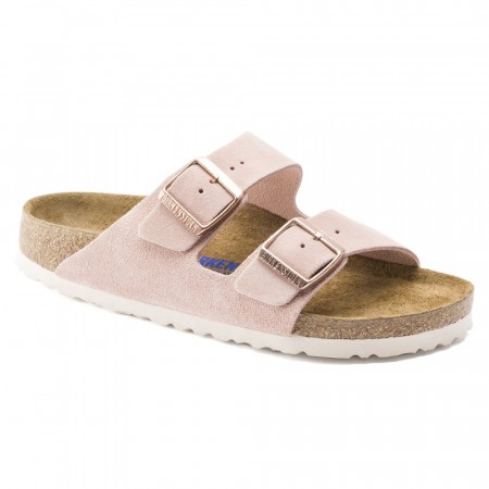 Birkenstock Arizona SFB Light Rose semsket skinn smal myk