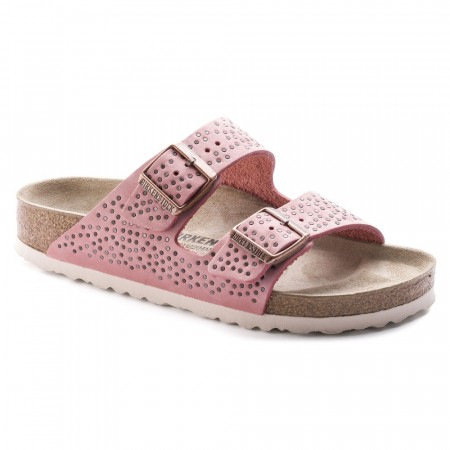 Birkenstock Arizona Crafted Rivets Doll rose skinn smal