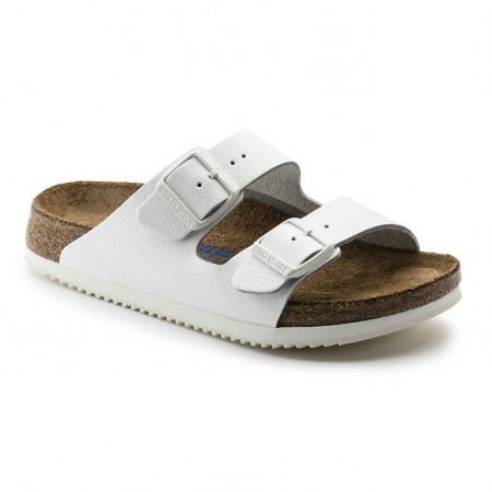 Birkenstock Arizona SL SFB hvit skinn normal Myk