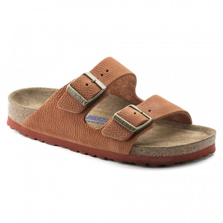 Birkenstock Arizona SFB Steer Curry nubuck skinn smal myk