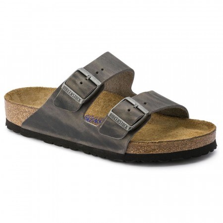 Birkenstock Arizona SFB Iron skinn normal myk