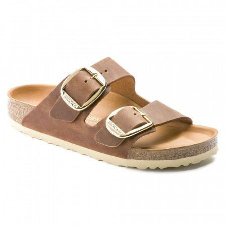 Birkenstock Arizona Big buckle brun skinn smal