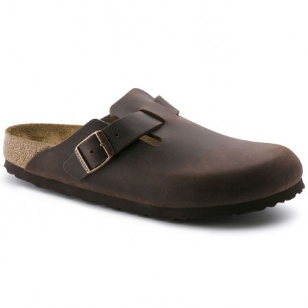 Birkenstock Boston Habana skinn normal