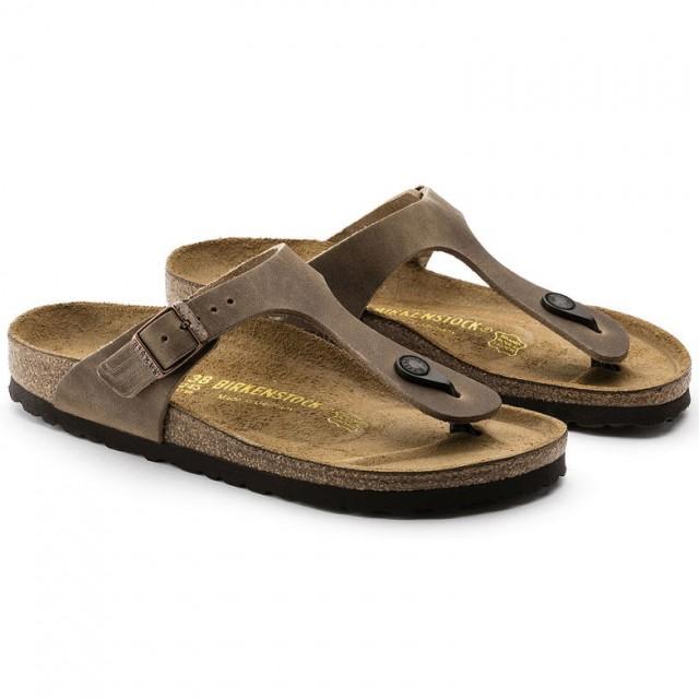 Birkenstock Gizeh Tabacco skinn normal | Birkenstock sandaler